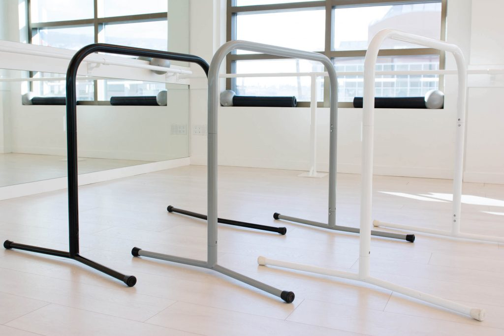 black gray white fitness barres