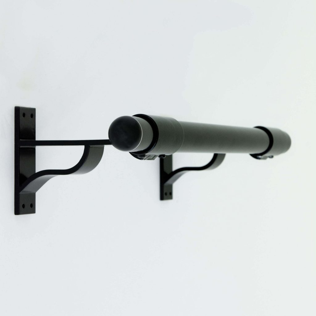 black wall mount fitness bracket fit-outs