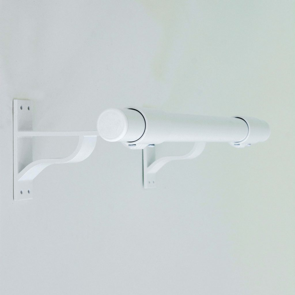 fit-outs white wall mount bracket and barre