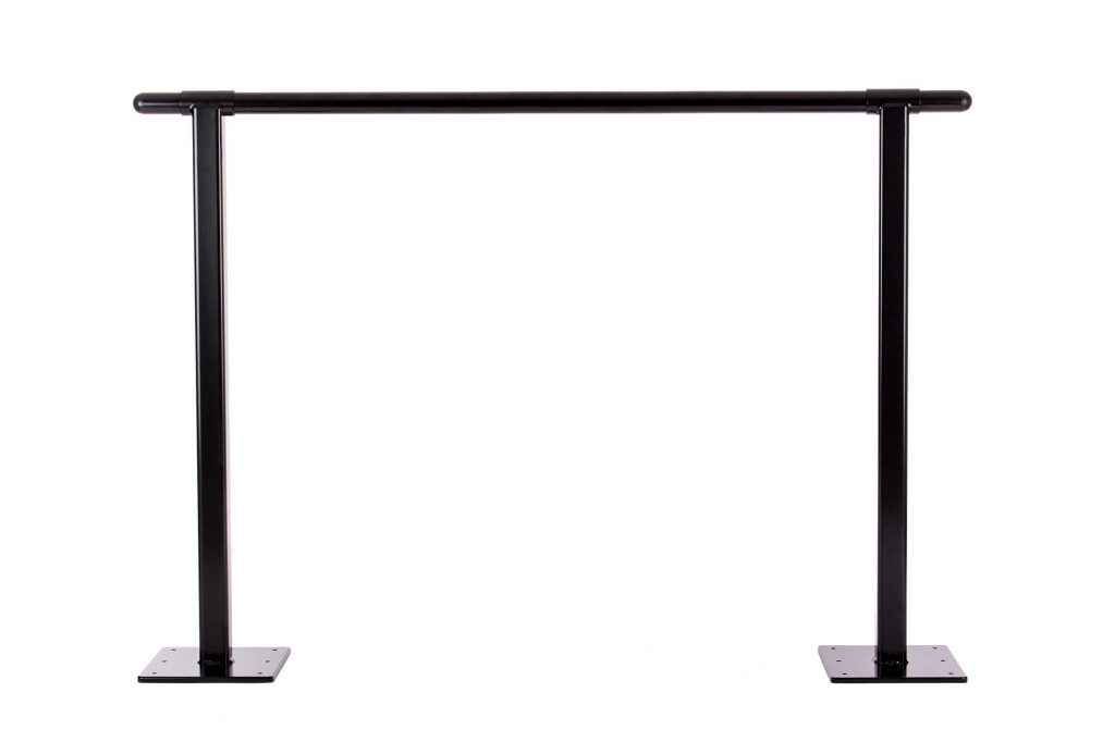 Floor Mount Brackets Black -Black Barre