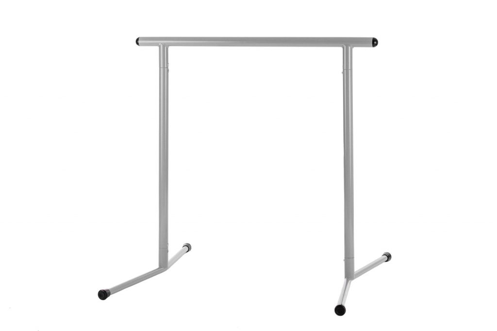3′ Freestanding Straight Fitness Barre Gray