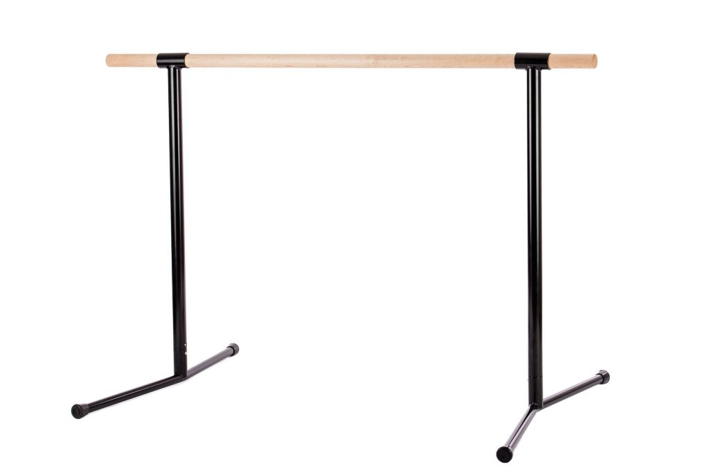 4′ 5- Freestanding Straight Wood Barre Black
